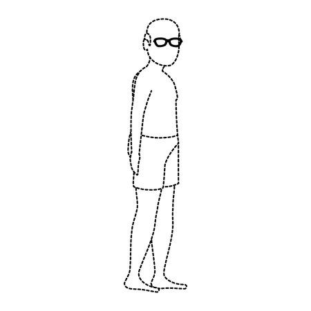 Vieil homme en chemise de plage vecteur illustration design Banque d'images - 94213900