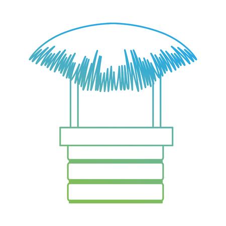 ●わら浜小屋アイコンベクトルイラストデザイン。  イラスト・ベクター素材