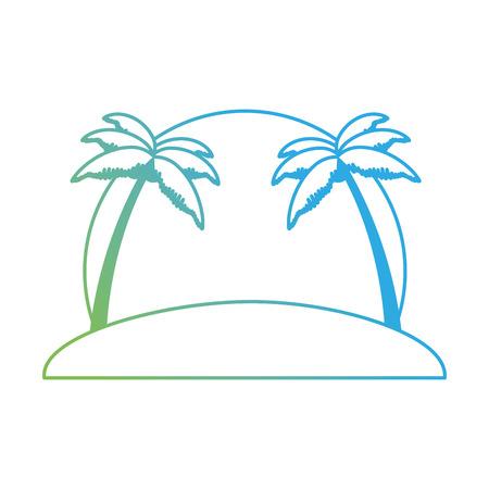 Beach with palms scene. Vector illustration design.