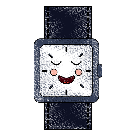 wrist watch bracelet square cartoon vector illustration drawing design