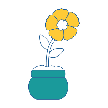 exotic flower isolated icon vector illustration design 向量圖像