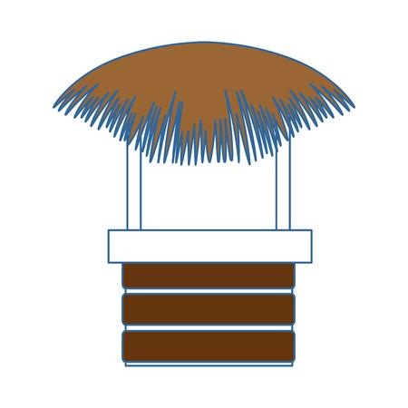 straw beach hut icon vector illustration design