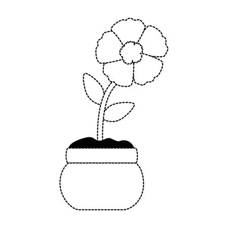 이국적인 꽃 격리 아이콘 벡터 일러스트 디자인 일러스트