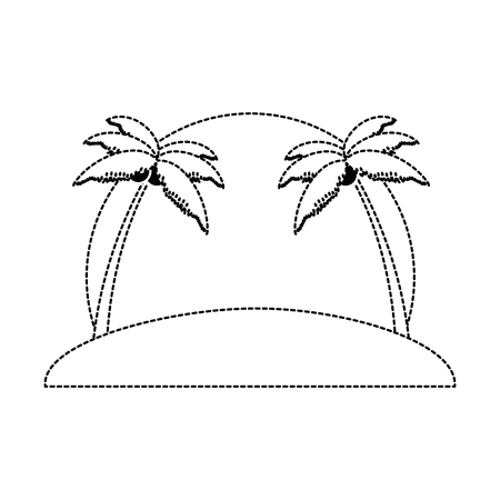 beach with palms scene vector illustration design Banco de Imagens - 94214077