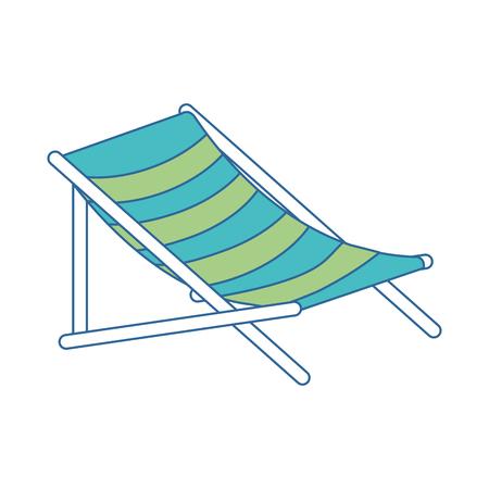 Strandstoel geïsoleerd pictogram vector illustratieontwerp Stockfoto - 94214590