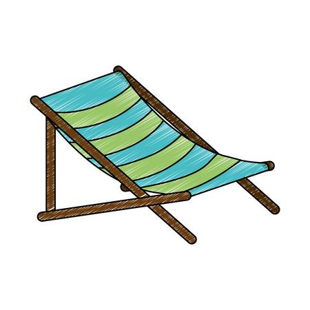 Strandstoel geïsoleerd pictogram vector illustratieontwerp Stockfoto - 94214006