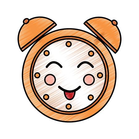 漫画時計アラームキャラクターベクトルイラスト描画デザイン  イラスト・ベクター素材