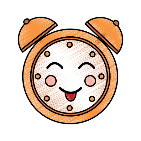 cartoon clock alarm character vector illustration desenho desenho Ilustración de vector