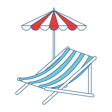 beach chair with umbrella vector illustration design Stock Vector - 94214591
