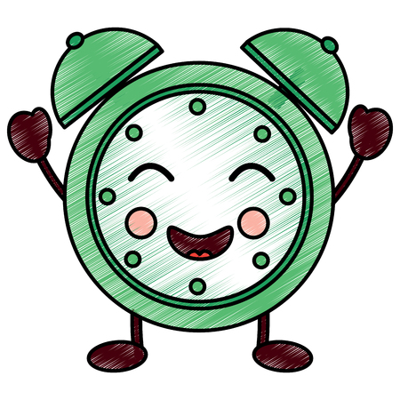 cartoon clock alarm character vector illustration drawing design Фото со стока - 94216441