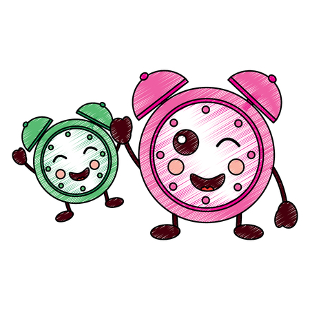 cartoon sleep clock alarm character vector illustration drawing design Фото со стока - 94226493