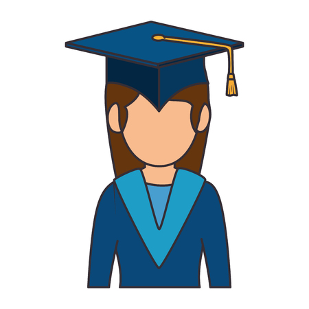 student graduated avatar character vector illustration design Stok Fotoğraf - 94216883