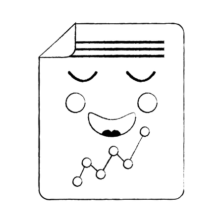 document sheet graph  cartoon vector illustration sketch design Illusztráció