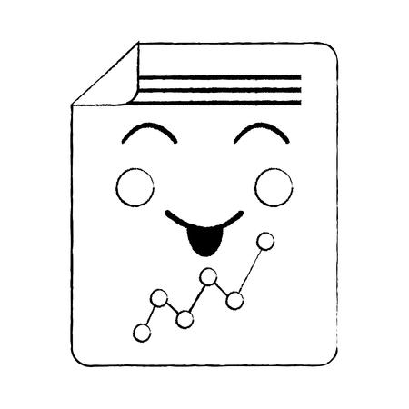 ドキュメントシートグラフ漫画ベクトルイラストスケッチデザイン