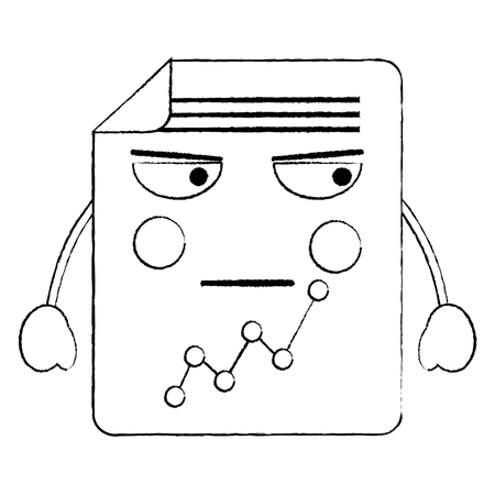 document sheet graph   cartoon vector illustration sketch design