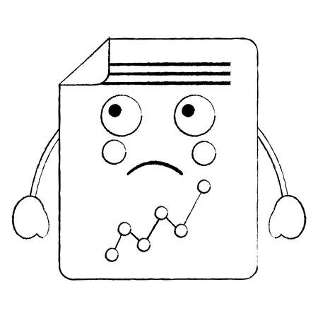 document sheet graph  cartoon vector illustration sketch design Vectores
