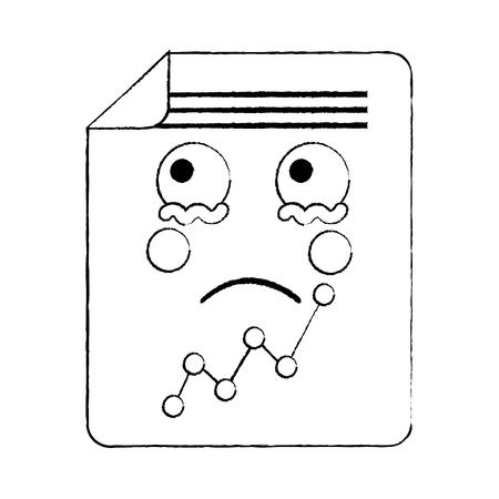 document sheet graph  cartoon vector illustration sketch design Ilustração