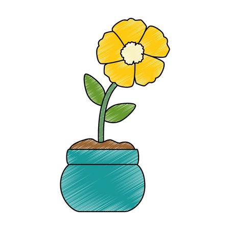 Progettazione dell'illustrazione di vettore dell'icona isolata fiore esotico Archivio Fotografico - 94354359