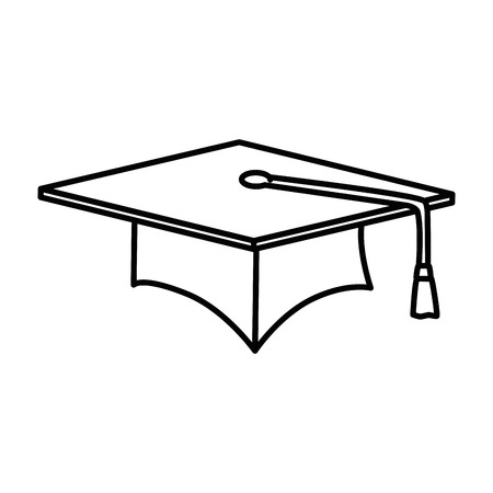 graduation hat isolated icon vector illustration design Imagens - 94232926