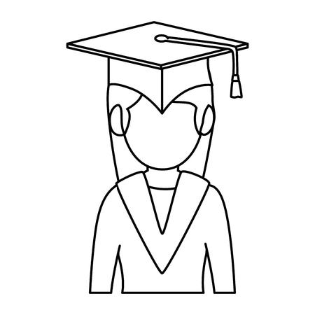 student graduated avatar character vector illustration design Stok Fotoğraf - 94216955