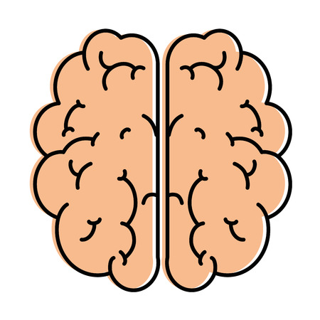 Brain storming isolated icon. Vector illustration design.