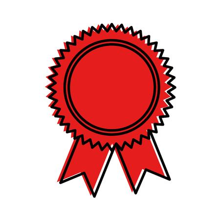 Selo ícone isolado do diploma. Projeto de ilustração vetorial. Foto de archivo - 94215849