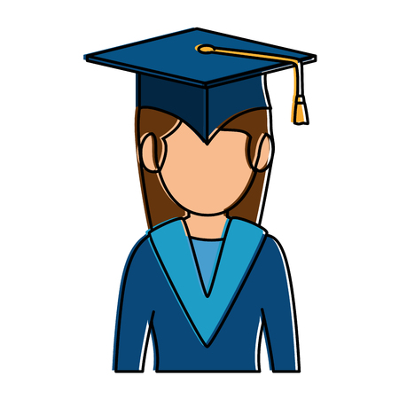 student graduated avatar character vector illustration design Ilustrace