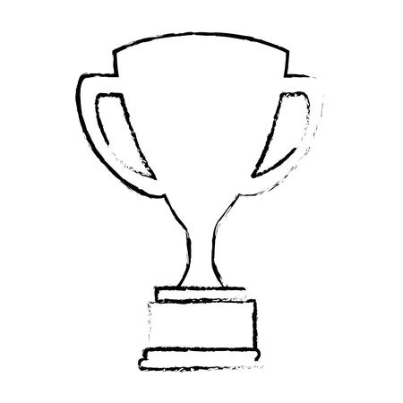 트로피 컵 격리 아이콘 벡터 일러스트 디자인