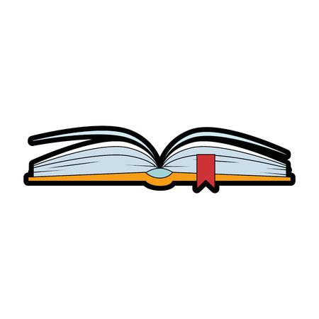 text book isolated icon vector illustration design Vettoriali