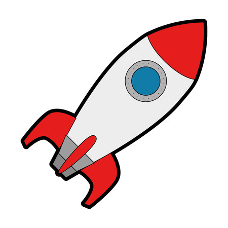 로켓 발사기 고립 된 아이콘 벡터 일러스트 레이 션 디자인 일러스트