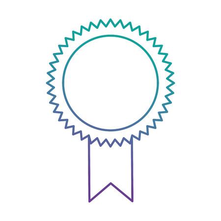 progettazione dell'illustrazione di vettore dell'icona isolata diploma della guarnizione