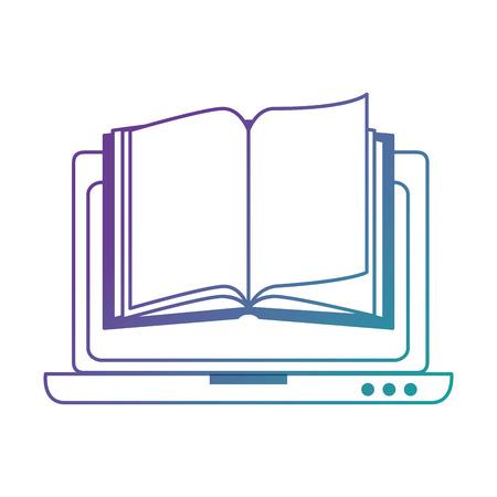 教科書ベクトルイラストデザインのラップトップコンピュータ