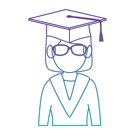 student graduated avatar character vector illustration design Stok Fotoğraf - 94222226