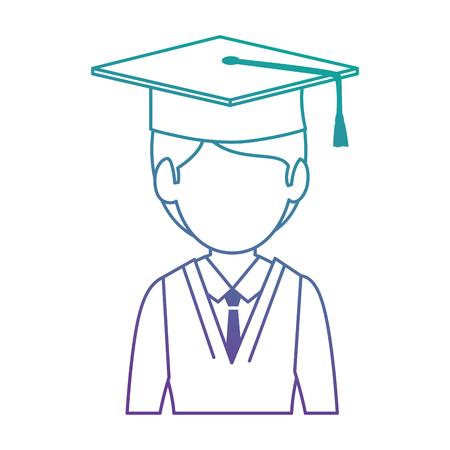 student graduated avatar character vector illustration design Stok Fotoğraf - 94222227