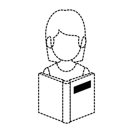 教科書アバターベクトルイラストデザインの教師女性
