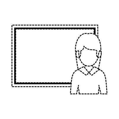 teacher woman with chalkboard avatar vector illustration design Иллюстрация