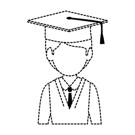 student graduated avatar character vector illustration design Stok Fotoğraf - 94218845