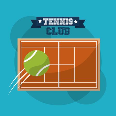 tennis club court speed ball sport banner vector illustration
