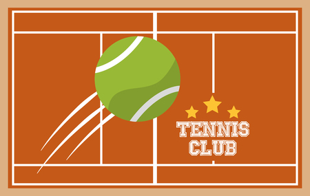 tennis club court ball sport top view image vector illustration Illustration