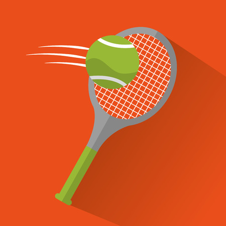 tennis racket ball sport game icons vector illustration