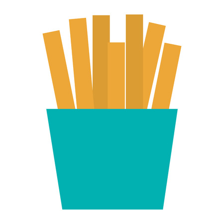 French fries isolated icon vector illustration design. Ilustração