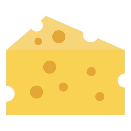 チーズピース×アイコンベクトルイラストデザイン。