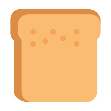 Bread toast isolated icon vector illustration design. Ilustração