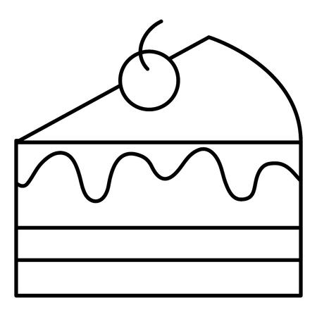 sweet cake portion icon vector illustration design