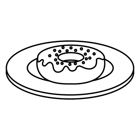 A dish with sweet donuts icon vector illustration design 写真素材 - 94247547