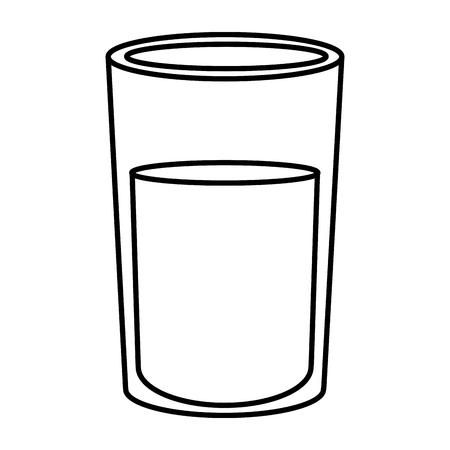 Glass with milk icon vector illustration design.