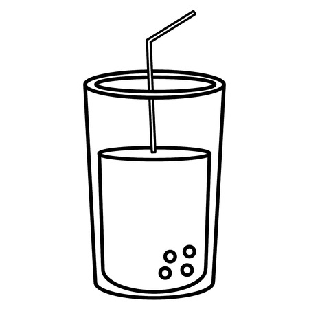 Soda glass isolated icon vector illustration design.