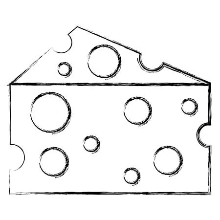 Cheese piece isolated icon vector illustration design. 일러스트