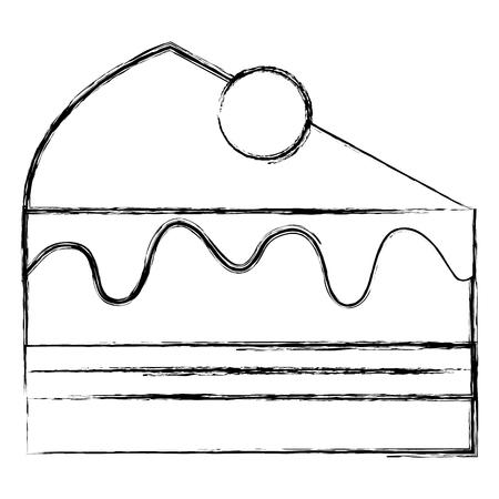 Het zoete pictogram van de cakeplak, vectorillustratieontwerp