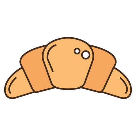 Delicious croissant bread icon vector illustration design Illustration